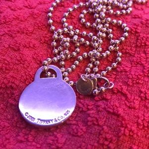 Tiffany & Co Rare Retired 34 in Necklace & Pendant